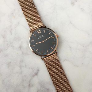 Horloge Chique Black Rosé